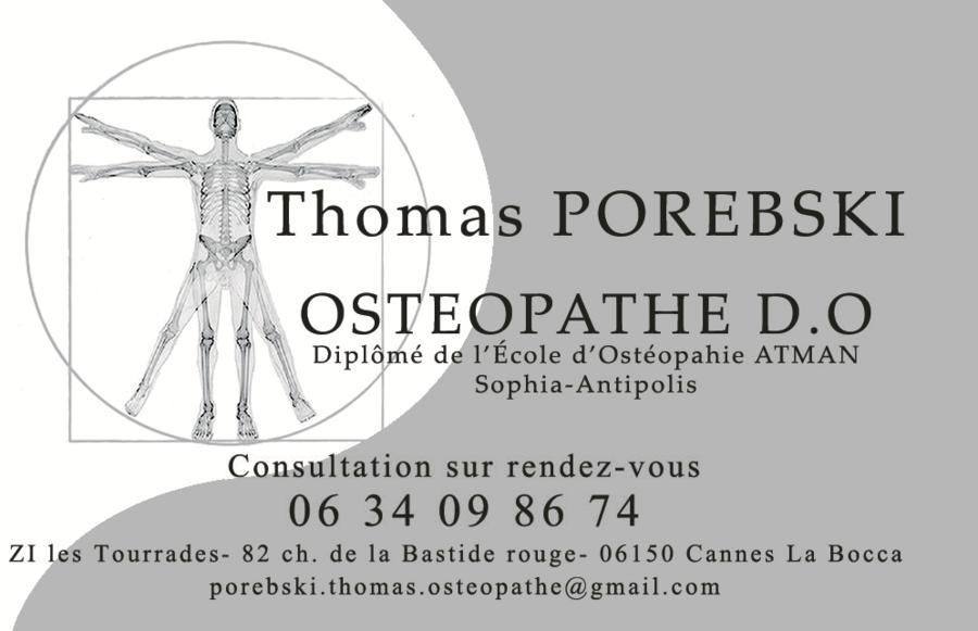 Carte De Visite Osteopathe Cannes La Bocca Mandelieu